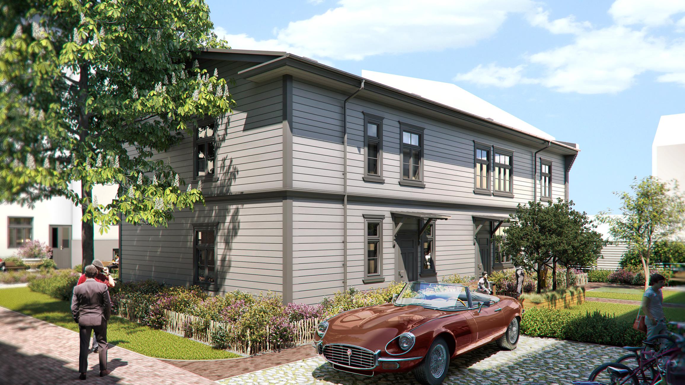 3d exterior architecture render visualization
