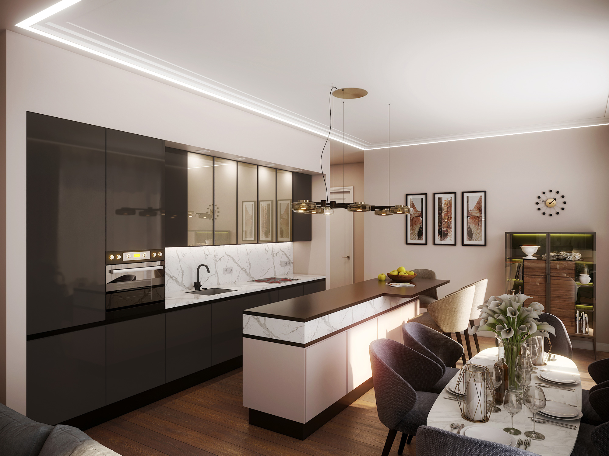 Mednieku 5 3d interior render visualization 07