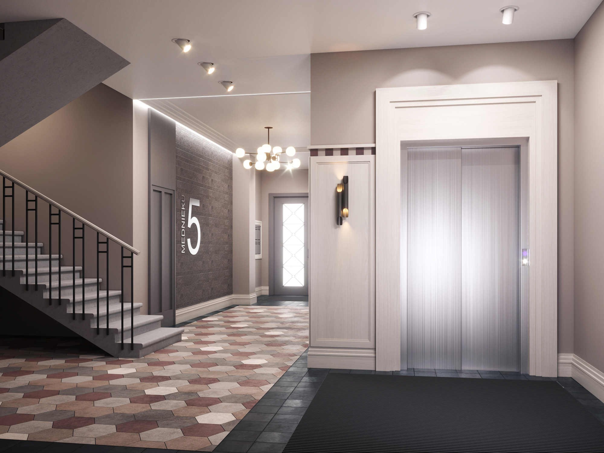 Mednieku 5 3d interior render visualization 11